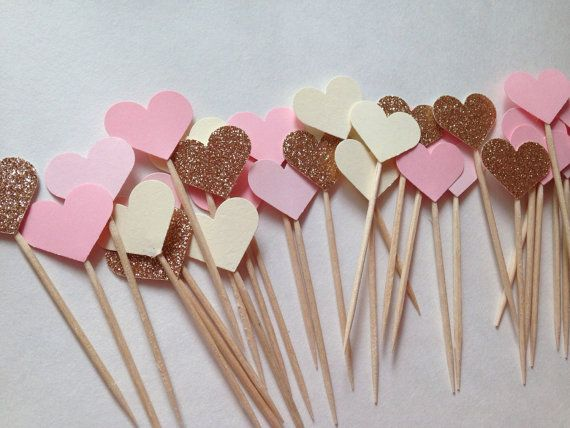 Bridal Shower Cupcake Toppers Chic Bridal Shower Girly by XoAS