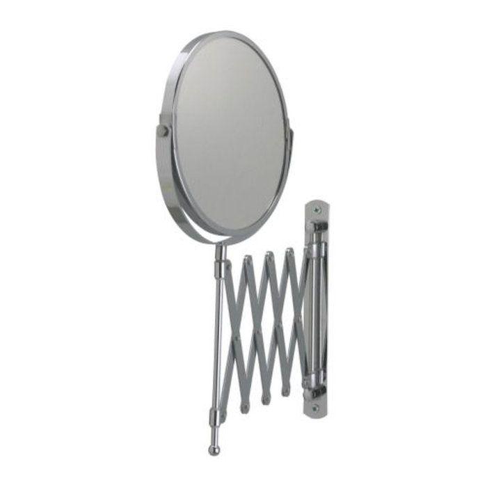 【IKEAOriginal】FRACK伸縮ウォールミラーステンレススチール片面/拡大鏡