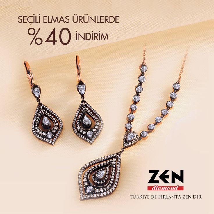 Seçili elmas ürünlerde yüzde 40 indirim #ANKAmall Zen Pırlanta'da!