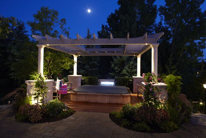 Pergola lighting outdoor accents lighting
