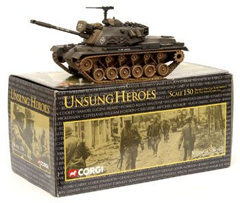 Corgi Classics Unsung Heroes US50303 - Vietnam Series II, M48 A3 Patton Tank - US Army. Including limited edition certificate & information booklet. 1:50 scale. Mint in window box.