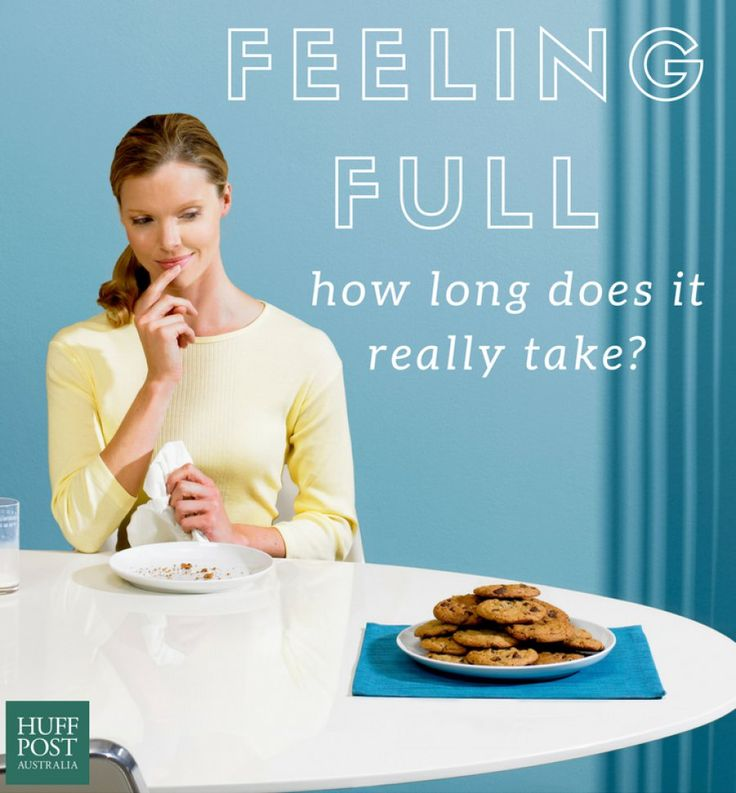 Does it really take 20 minutes to feel full?