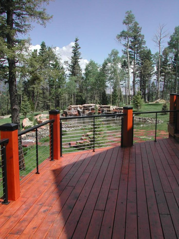 Cable Railing Walkway Cable Railing Back Porches