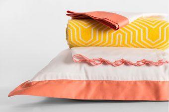Designer Bedding | Linden Coral Duvet Cover