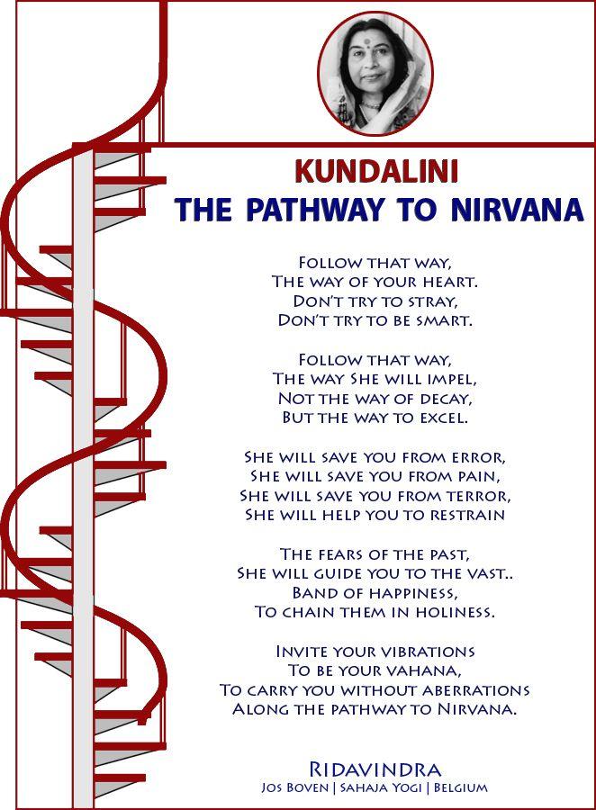 KUNDALINI : THE  PATHWAY  TO  NIRVANA   Ridavindra Jos Boven   Sahaja Yogi   Belgium
