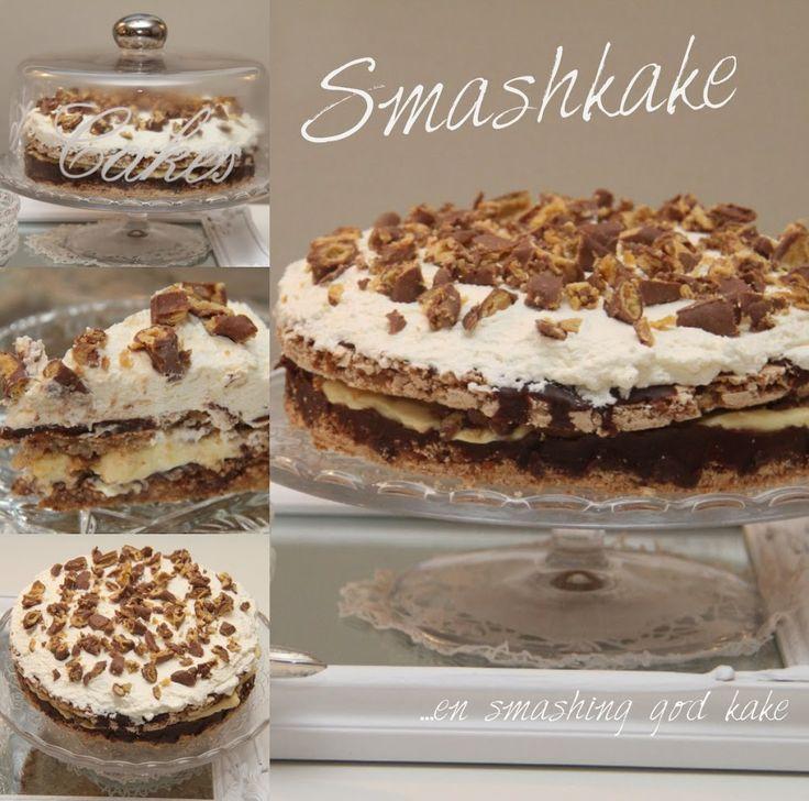 I dag skal jeg friste dere med denne herlige og utrolig gode smashkaken. Kaken har deilige lag av, marengsbunn med smash og ritzkjeks, sjokolade, vaniljekrem og er toppet med krem og smash. Den er rett og slett smashing god! Oppskriften på denne herligheten fikk jeg av Mona som fant oppskriften på denne bloggen. Jeg hadde aldri hørt …