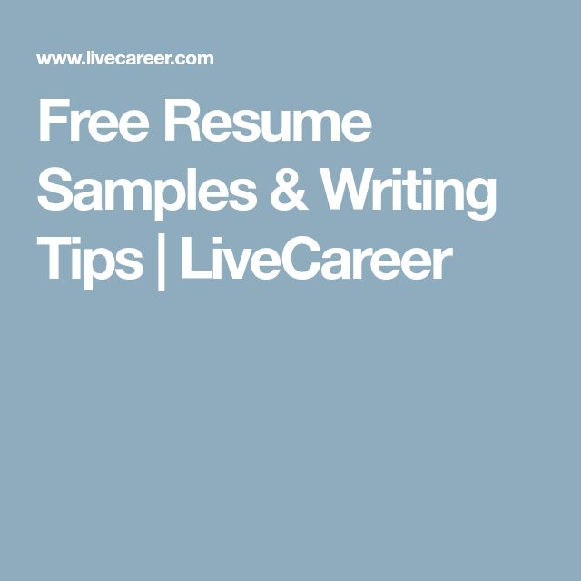 Free Resume Samples \ Writing Tips LiveCareer Career Resume - resume livecareer login