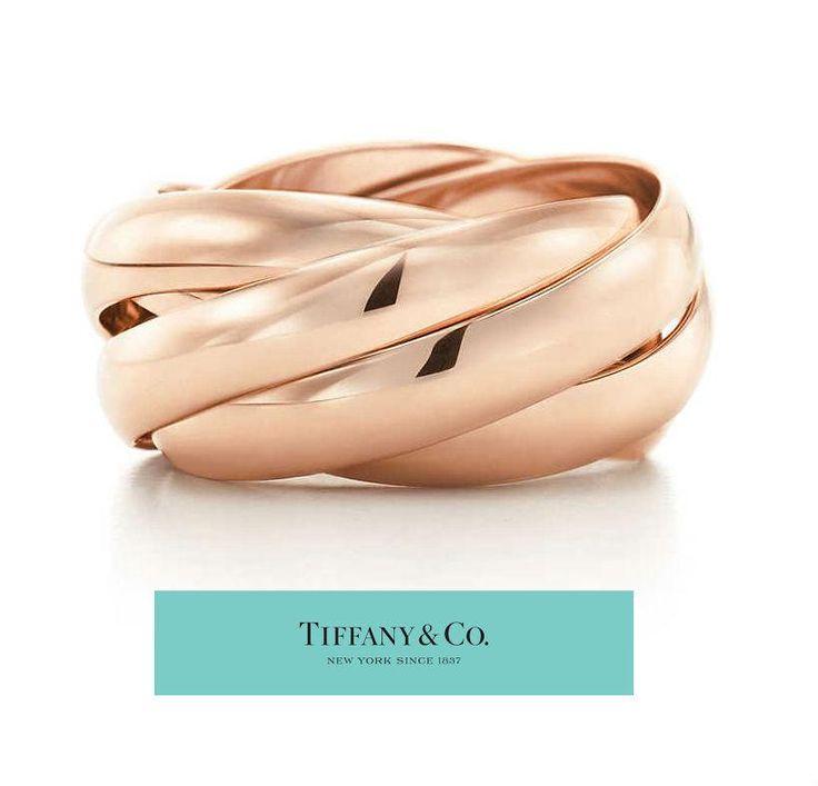 $5,500 Tiffany Paloma Picasso 18K Rose Gold Interlocking Melody Ring B – Goldia.com