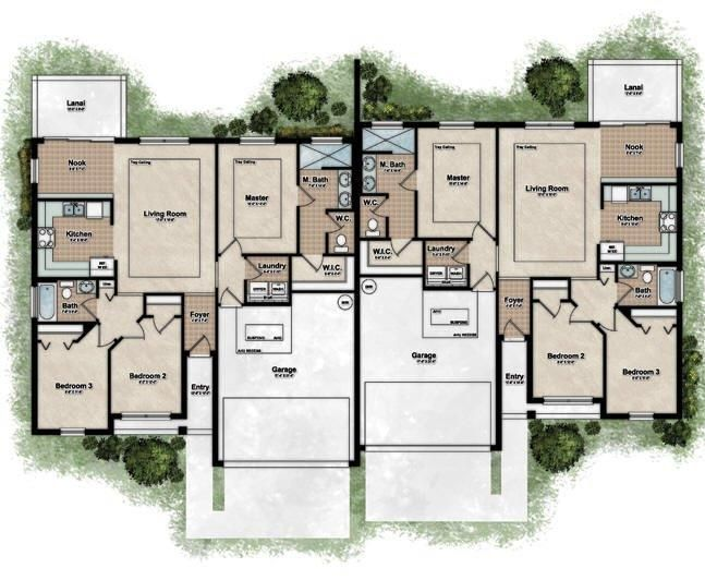 10 best images about duplexes floor plans town homes on Unique duplex plans