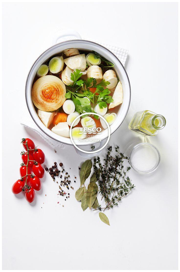 Zeleninový vývar  http://www.tescorecepty.cz/recepty/detail/64-zeleninovy-vyvar