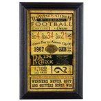 Vintage Baseball Ticket Framed Wall Art |