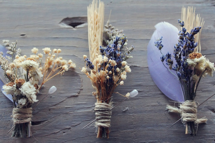 dried wildflowers buttonhole