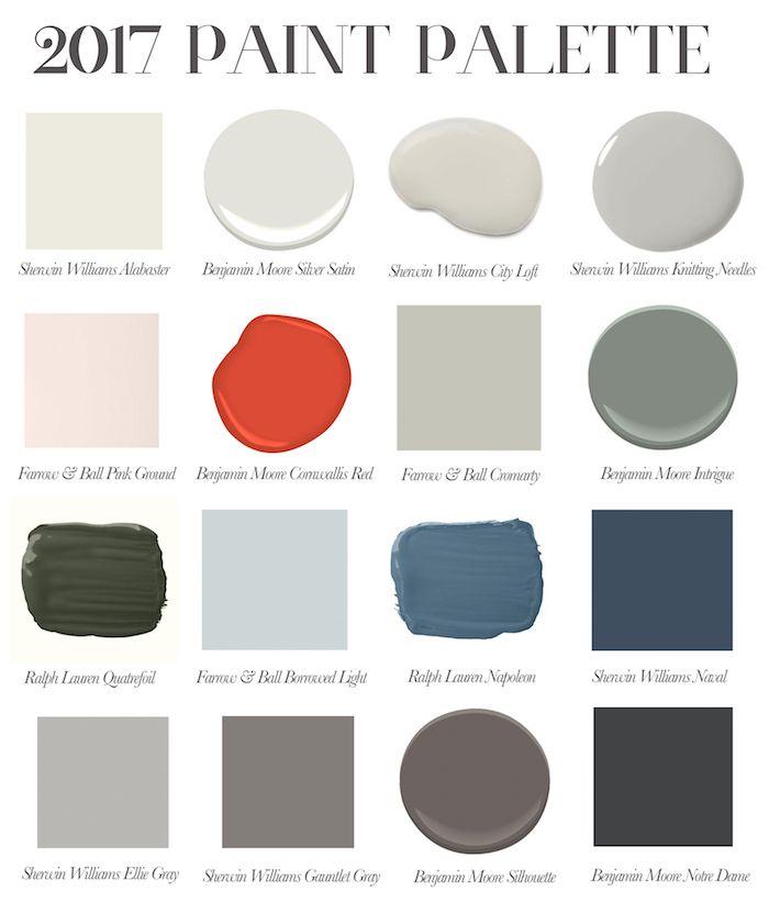 2017 Color Palette Living Room In 2018 Paint Colors Colours Favorite
