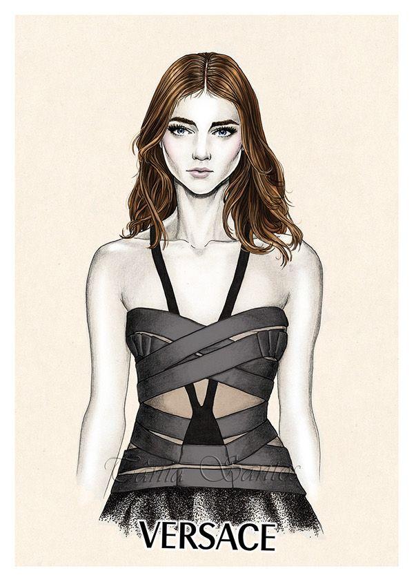 Fashion illustrations - SS2014 by Tânia Santos, via Behance