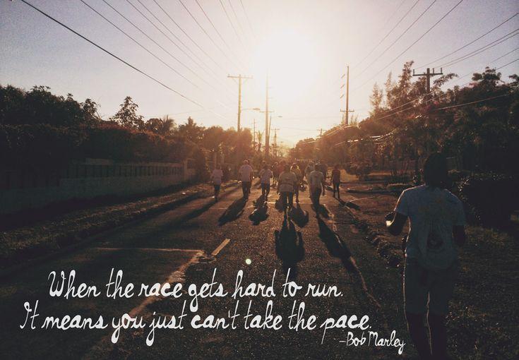 The Kingston City Run #Jamaica @Melanie Bauer Bauer Juhos Tourist Board Bob Marley quote