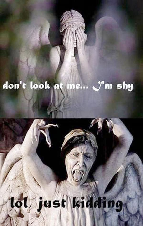 Weeping Angel makes a joke