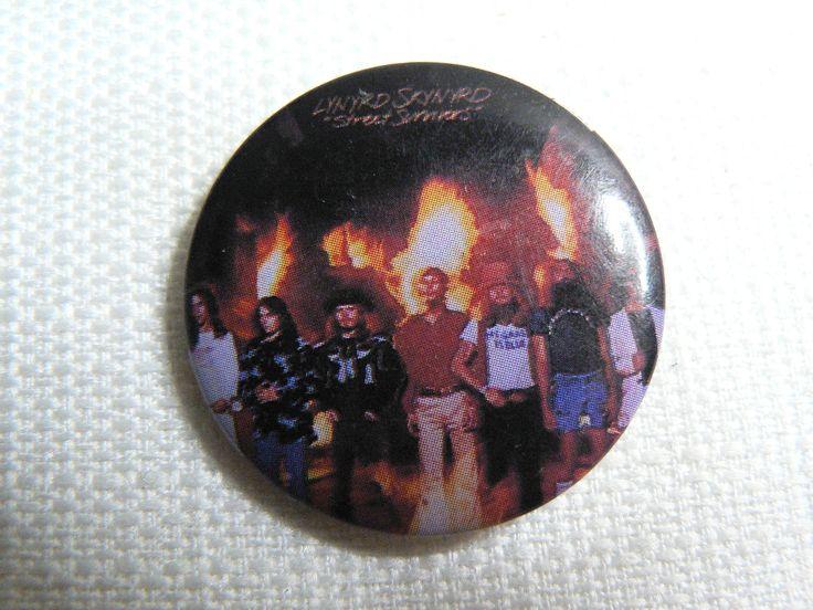 Vintage 80s (1983) Lynyrd Skynyrd - Street Survivors Album (1977) - Pin / Button / Badge by beatbopboom on Etsy
