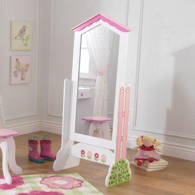 KidKraft Dollhouse Cheval Mirror - 21.65W x 51.2H in. - 78107