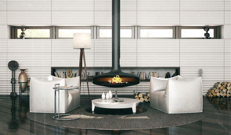 fashion-forward fireplace