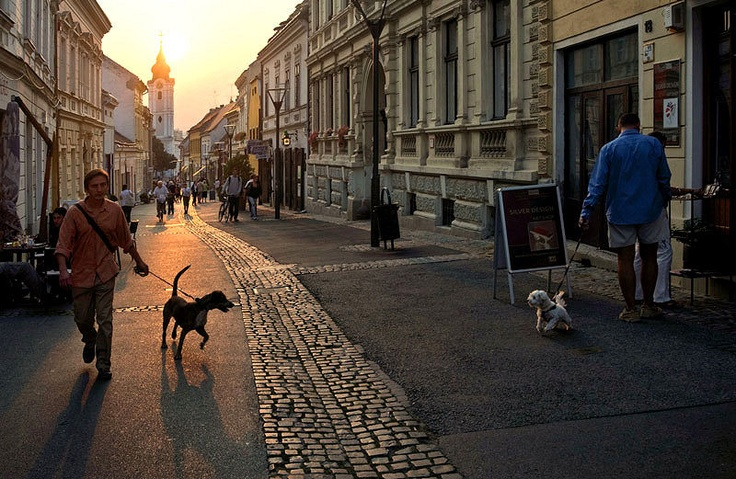 zsufoto: Pécs - Ferencesek utcája