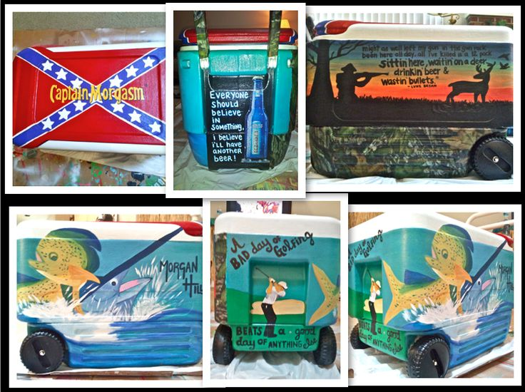 my hand-painted cooler for morgan. Awww found Morgan's cooler on Pinterest!! Jordan did an amazing job!!!!
