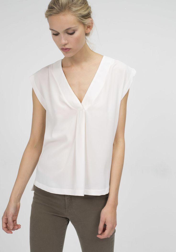 Soldes Blouse perles encolure femme IKKS | Soldes Top, T-shirt Été