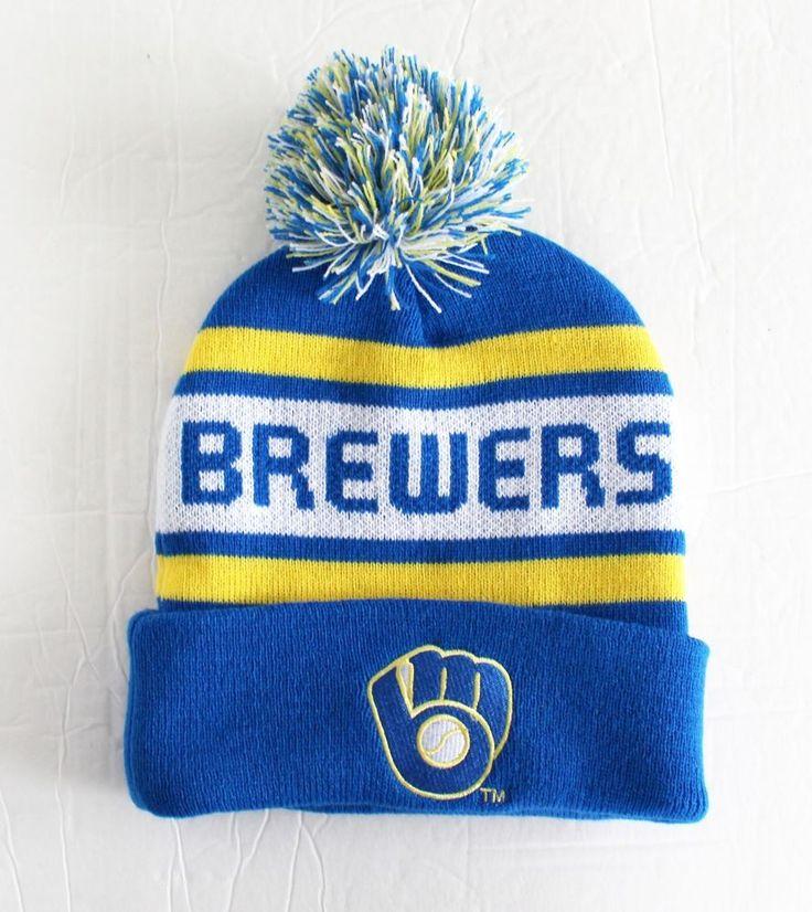 Youth Winter Hat Milwaukee Brewers Knit Beanie Cap Retro