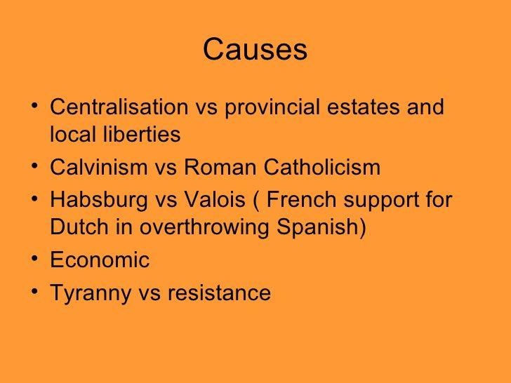 Causes of the Dutch Revolt