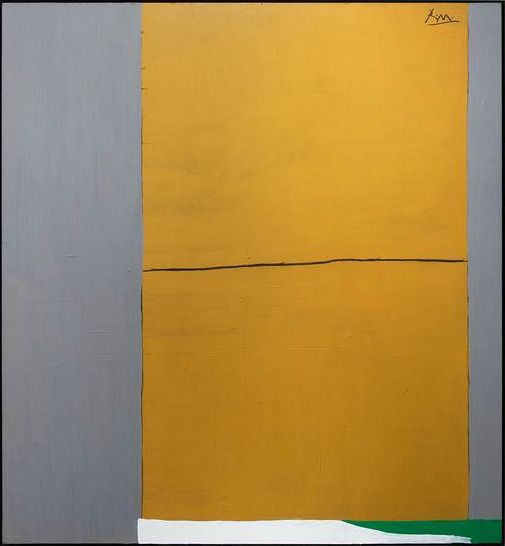 whitehotel:  Robert Motherwell, Open no. 2: In ochre and grey (1967-71)
