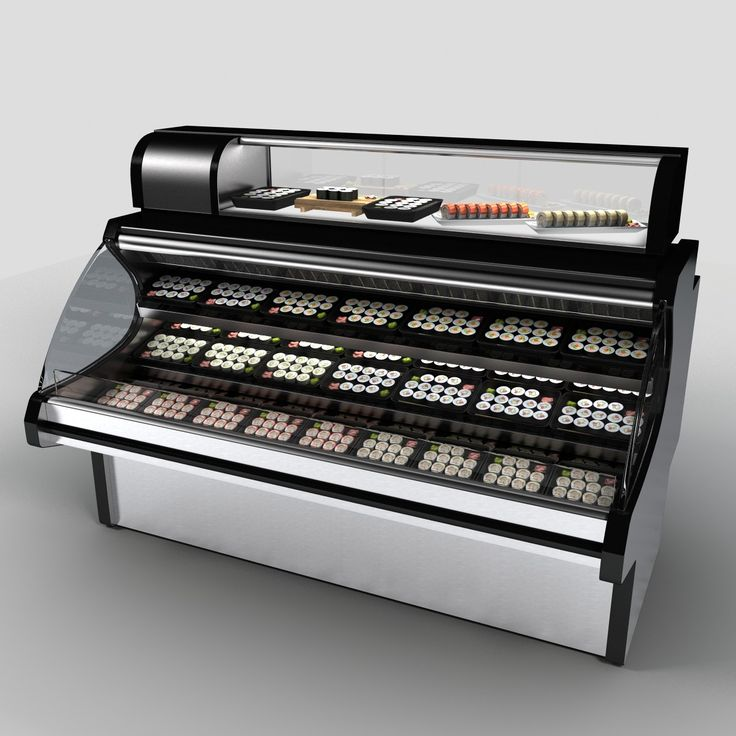 3D Model Of Sushi Case - 3D Model