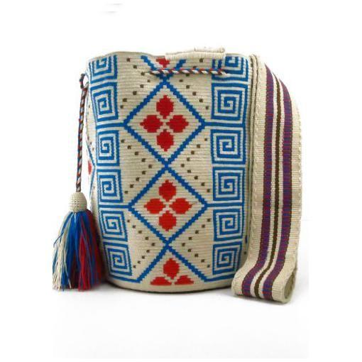 Wayuu Mochila bag 2032-Across-The-Puddle-ACROSS-THE-PUDDLE-Yale-Blue-Beige-and-Tangerine-Wayuu-Mochila-Bag-for-Women-2.jpg (510×510)