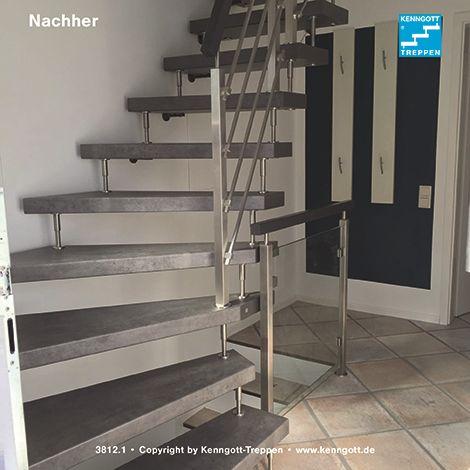 freitragende kenngott treppe 1 4 gewendelt terzo. Black Bedroom Furniture Sets. Home Design Ideas
