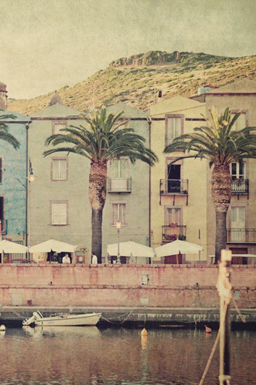 Bosa, the street along the river Temo #bosa  #sardinia #italy