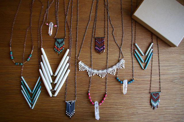 DIY chevron necklaces