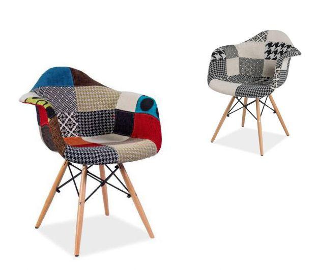 Krzesło DENIS jest niesamowite. Zaprojektowane z myślą o połączeniu modnych kształtów z ciekawym materiałem obiciowym tworzy niepowtarzalny element wyposażenia mieszkania.