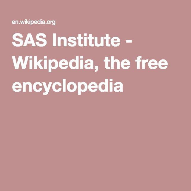 SAS Institute - Wikipedia, the free encyclopedia