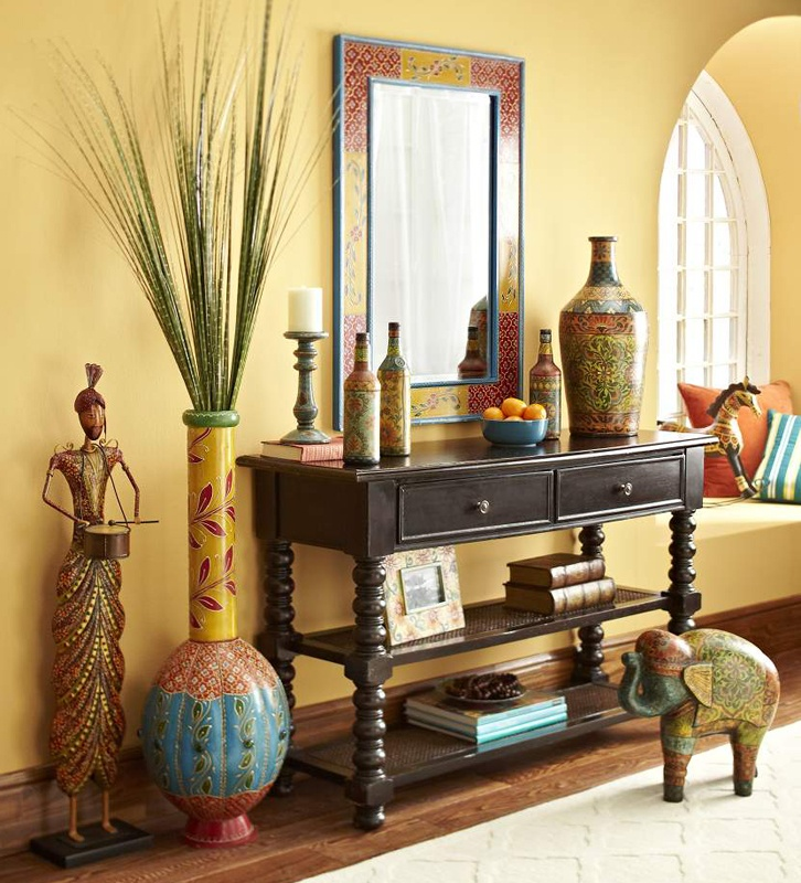 Playful, extravagantly decorated pieces instantly add vibrant energy to a room