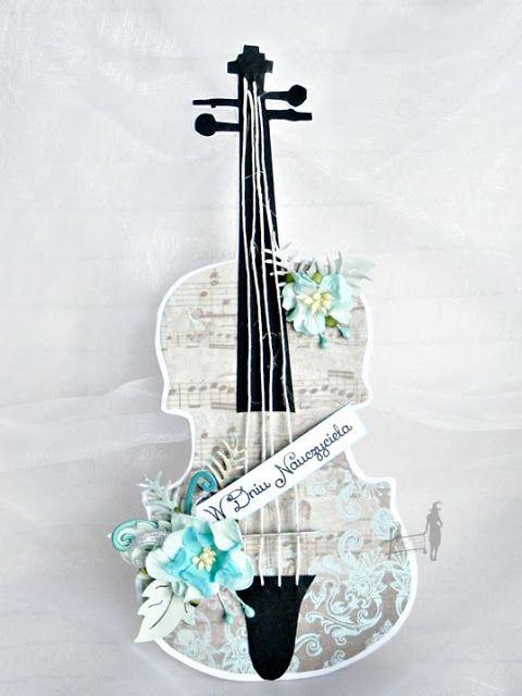 #kartka skrzypce# #dzień nauczyciela#