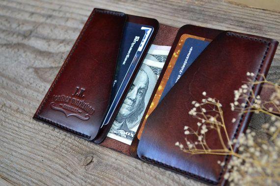 Leather Card Wallet Card Holder Leather от JKLeatherWorkshop