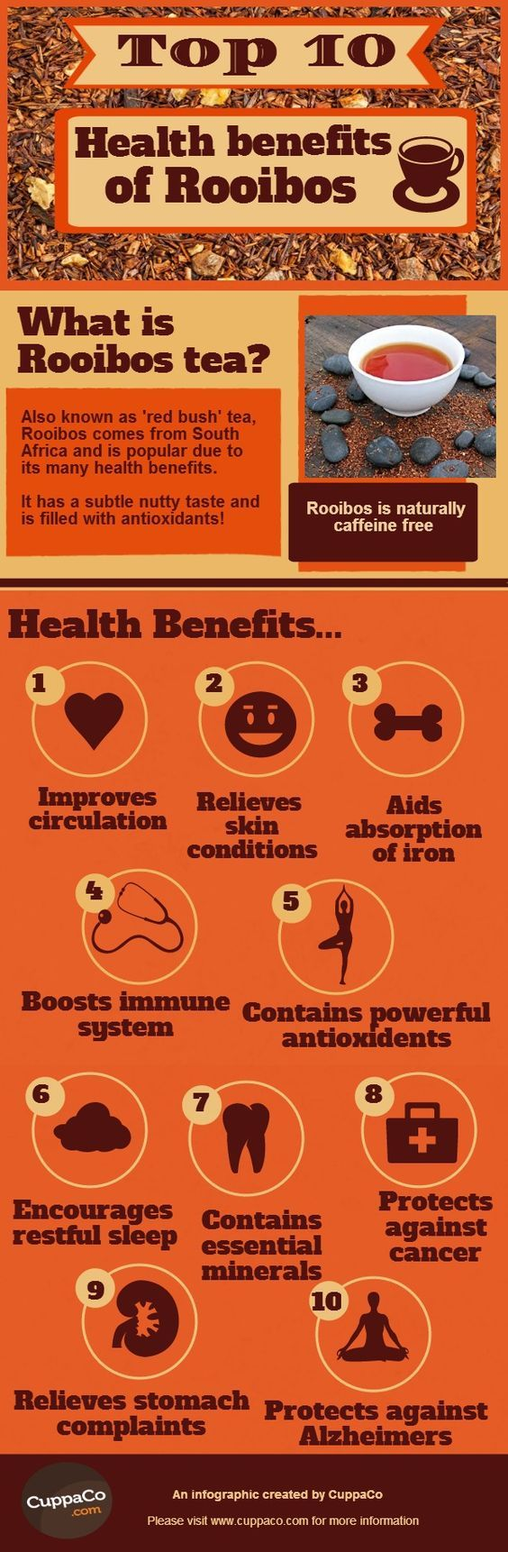 Benefits of herbal peach tea - Health Benefits Of Rooibos