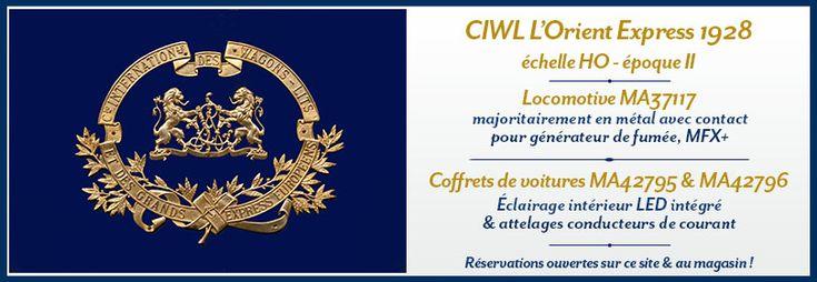 Le set de 5 wagons CIWL est DISPONIBLE au magasin Au Pullman ou sur notre site. http://www.aupullman.com/fr/ma42795