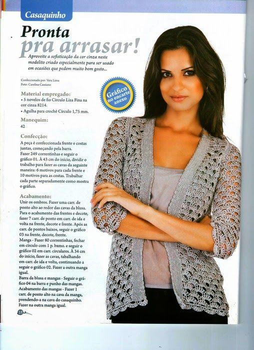 Crochetemoda: Casaquinhos/ crochet sweater