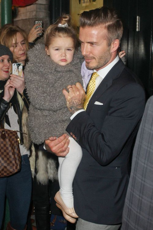 David Beckham joins his family for a post-runway lunch - Part 2 **USA, Canada, and Australia ONLY**