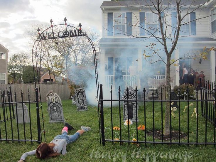 halloween decorating ideas for your yard outdoor halloween decoration ideas best ideas network - How To Decorate For Halloween Outside
