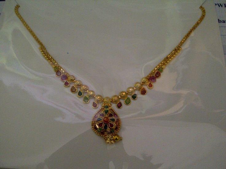 22k India Dubai Gold Necklace Gold Necklace Designs