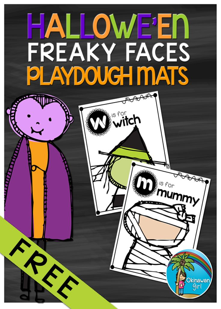 FREE resource. Students have fun developing their knowledge of initial sounds as well as their fine motor skills by creating *freaky faces* of Hallowe'en. Suitable for Pre/K.