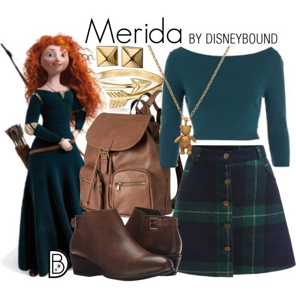 Merida by leslieakay on Polyvore featuring Blondo, H&M, Bling Jewelry, Waterford, Mirabelle, ASOS, Merida, disney and disneybound