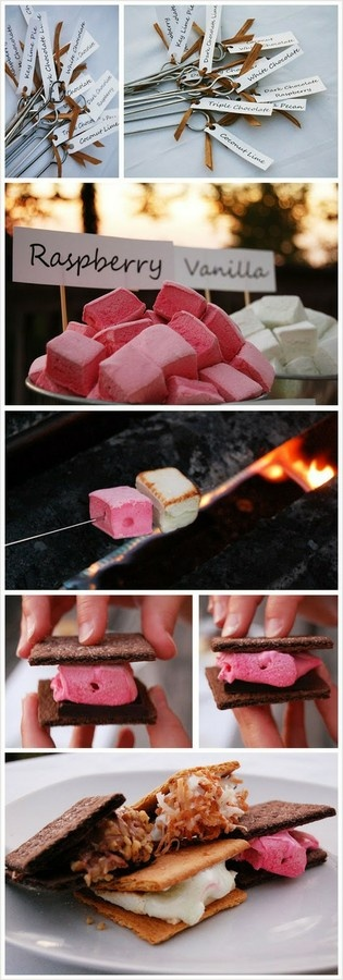Gourmet smores table-Maybe for the house warming party! reasons-to-have-a-party