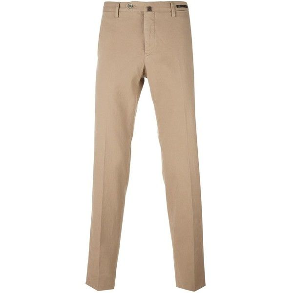 Pt01 slim-fit chinos (9.940 RUB) ❤ liked on Polyvore featuring men's fashion, men's clothing, men's pants, men's casual pants, beige, mens slim fit chino pants, mens slim pants, mens chinos pants, mens slim fit pants and mens chino pants