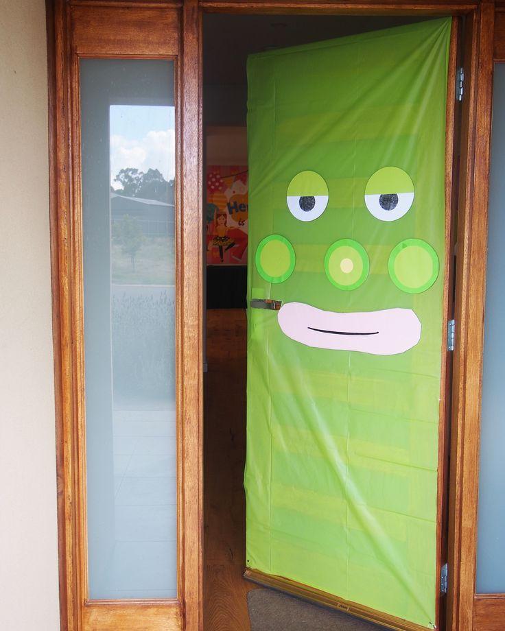 The door we created, super easy